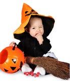 Bebê de Dia das Bruxas Fotos de Stock Royalty Free