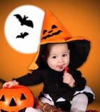 Bebê de Dia das Bruxas Foto de Stock Royalty Free