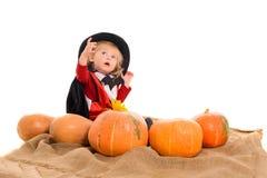 Bebê de Dia das Bruxas Imagens de Stock Royalty Free