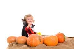 Bebê de Dia das Bruxas Imagem de Stock Royalty Free