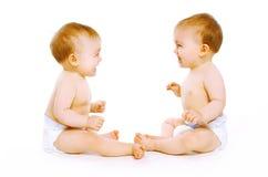 Bebê de dois gêmeos Imagens de Stock Royalty Free