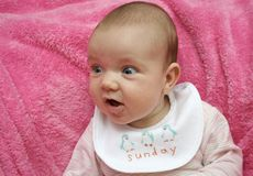 Bebê de domingo foto de stock