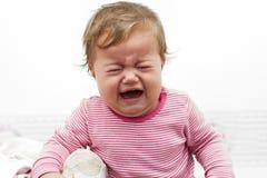 Bebê de grito Fotografia de Stock