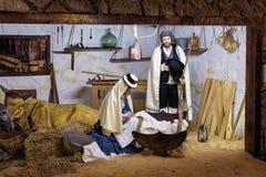 Bebê de Jesus Christ com Maria e David na ilha de Tenerife Imagens de Stock Royalty Free