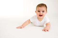Bebê de rastejamento 1 Imagens de Stock Royalty Free