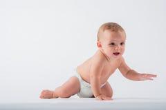 Bebê de rastejamento imagem de stock royalty free