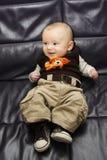 Bebê de riso fotografia de stock royalty free