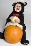 Bebê de riso da abóbora fotografia de stock royalty free