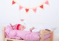 Bebê de sono bonito Fotografia de Stock Royalty Free