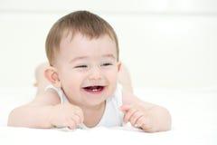 Bebê de sorriso imagem de stock