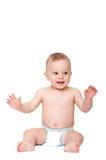 Bebê de sorriso Fotos de Stock