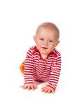 Bebê de sorriso amigável imagens de stock
