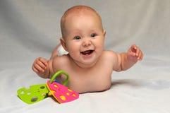 Bebê de sorriso bonito Fotografia de Stock Royalty Free