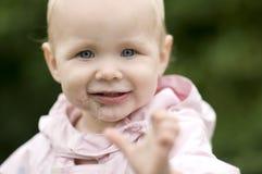 Bebê de sorriso bonito fotos de stock royalty free