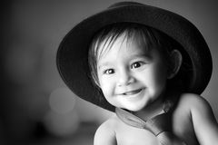 Bebê de sorriso bonito Fotos de Stock