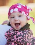 Bebê de sorriso Expressão alegre foto de stock