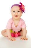 Bebê de sorriso pequeno Fotos de Stock