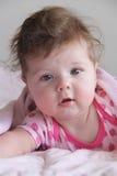 Bebê desarrumado do cabelo - 6 meses velho Imagem de Stock Royalty Free