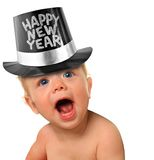 Bebê do ano novo feliz imagens de stock royalty free