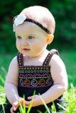Bebê do bebê de seis meses fora Foto de Stock Royalty Free