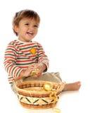 Bebê do bulbo do Natal Imagens de Stock Royalty Free