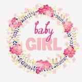 Bebê do cartão Fotografia de Stock
