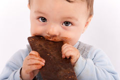 Bebê do chocolate Imagem de Stock Royalty Free