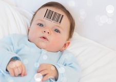 Bebê do clone com código de barras imagens de stock