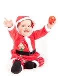 Bebê do cumprimento do Natal Fotografia de Stock Royalty Free