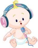 Bebê do DJ Fotografia de Stock