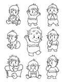 Bebê do Doodle Imagens de Stock Royalty Free