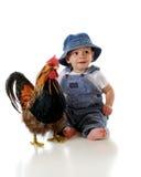 Bebê do fazendeiro Fotografia de Stock