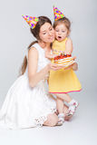 Bebê do feliz aniversario imagens de stock