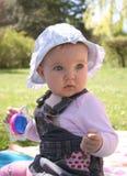 Bebê do gramado Imagens de Stock Royalty Free