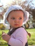 Bebê do gramado Fotos de Stock Royalty Free