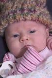 Bebê do inverno fotografia de stock