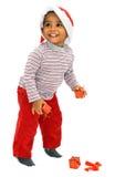Bebê do mulato em um fundo branco Imagens de Stock