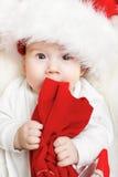 Bebê do Natal fotografia de stock royalty free