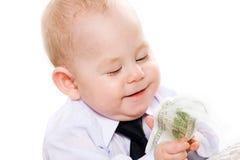 Bebê do negócio fotografia de stock