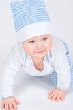 Bebê do retrato na roupa fotos de stock