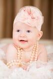 Bebê do sorriso fotografia de stock royalty free