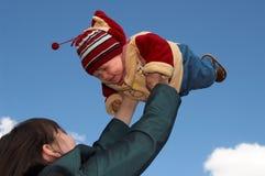 Bebê do vôo fotografia de stock royalty free