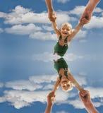 Bebê do vôo Imagens de Stock Royalty Free