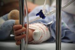 Bebê doente deficiente Imagens de Stock