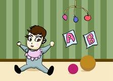 Bebê dos desenhos animados Imagens de Stock Royalty Free