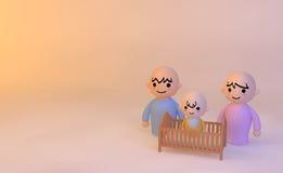 Bebê dos pares Foto de Stock Royalty Free