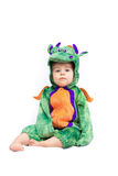 Bebê Dragon Costume Fotografia de Stock Royalty Free