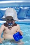 Bebê e água Imagens de Stock Royalty Free