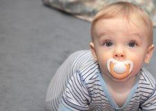 Bebê e Binky Foto de Stock