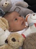 Bebê e brinquedos 1 imagem de stock